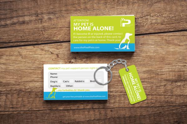 Foldable card & keychain card