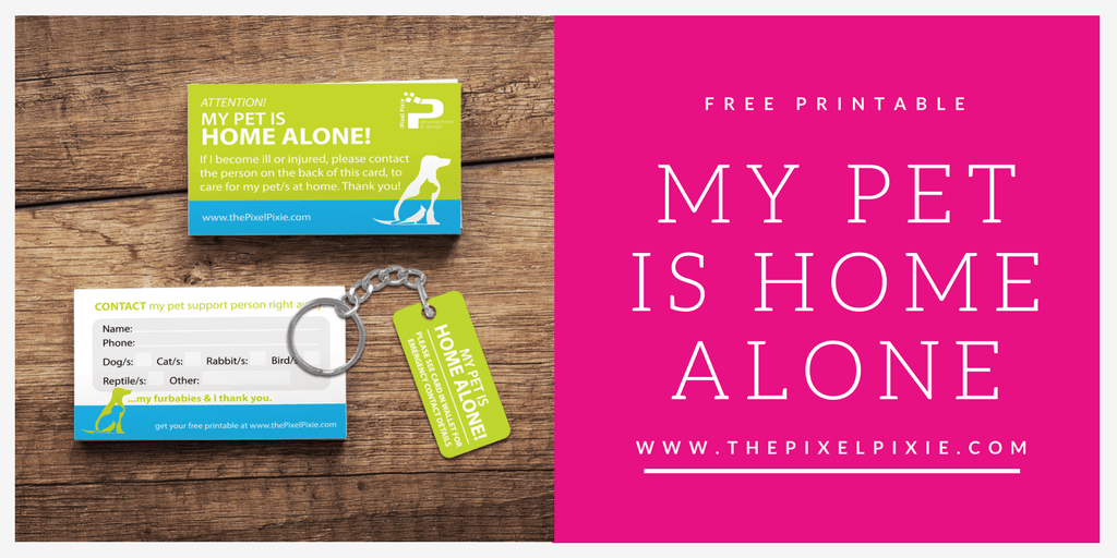 picture regarding My Dog is Home Alone Card Printable named My Doggy is Household On your own\