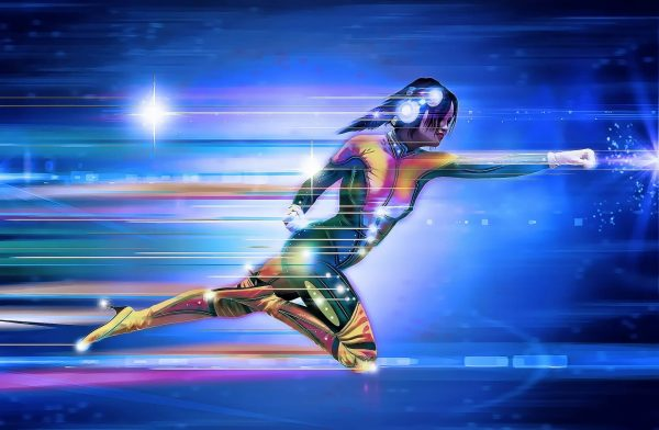 digital image of someone at super speed