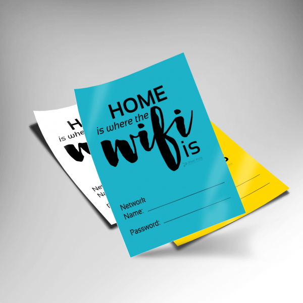 Home is where the Wifi is - Printable on different-colored paper